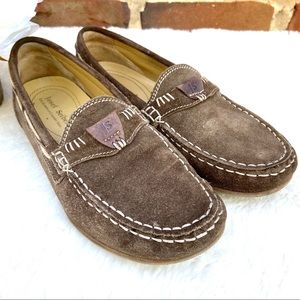 JOSEF SEIBEL Suede Braid Comfort Moccasin Loafer